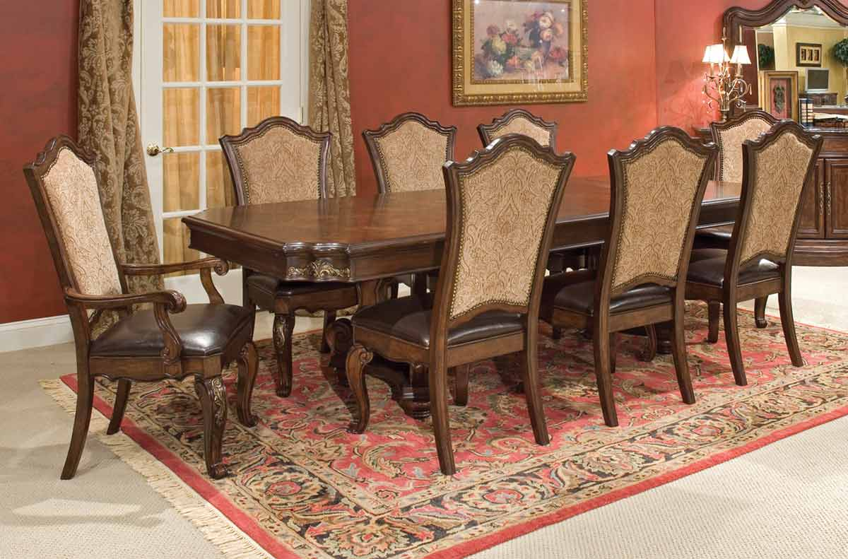 Legacy Classic Tuscan Manor Pedestal Dining Collection with Upholstered Chair