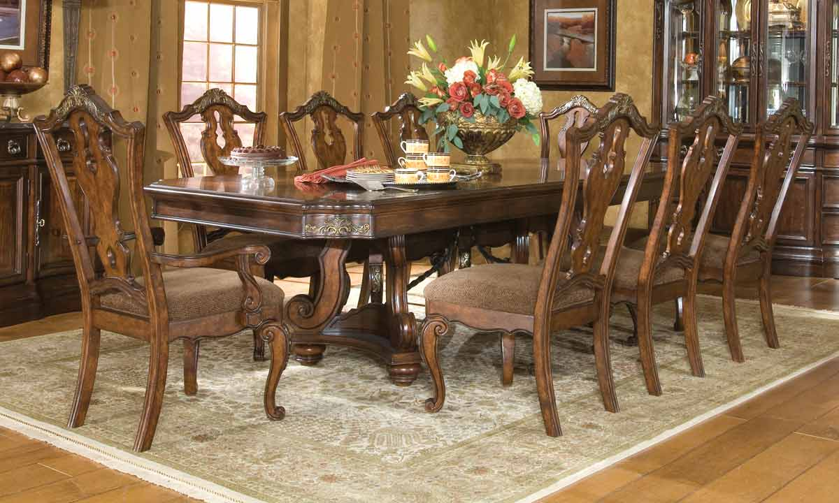 Legacy Classic Tuscan Manor Pedestal Dining Collection with Splat Back Chair