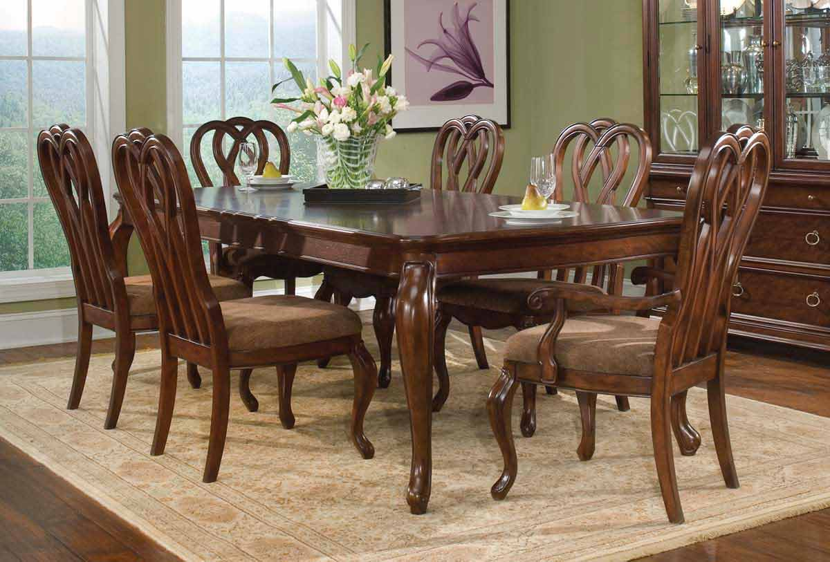 Legacy Classic Heritage Court Rectangular Leg Extension Dining Collection with Ribbon Back Chair