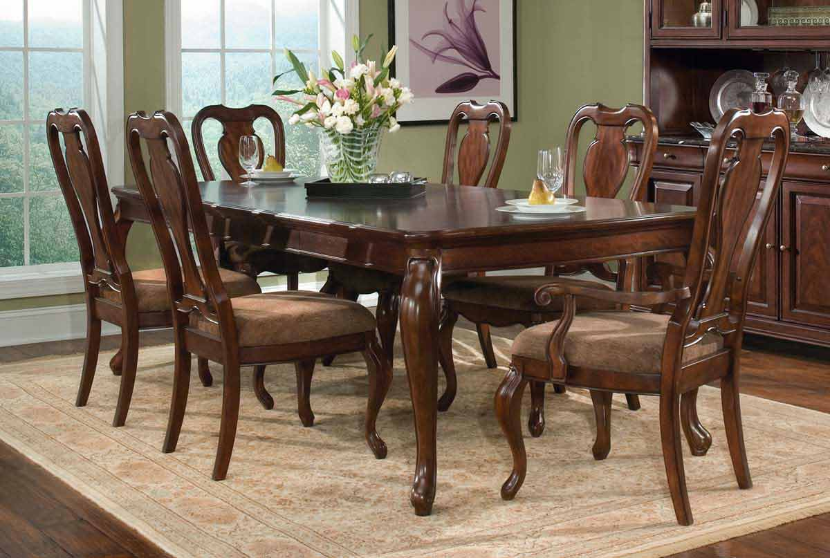 Legacy Classic Heritage Court Rectangular Leg Extension Dining Collection with Queen Anne Chair