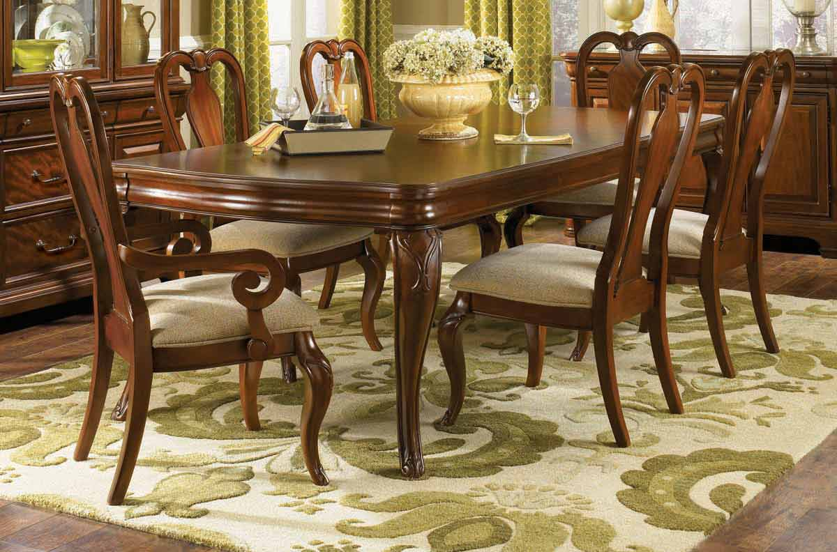 Legacy Classic Evolution Rectangular Double Pedestal Dining Collection with Queen Anne Chair