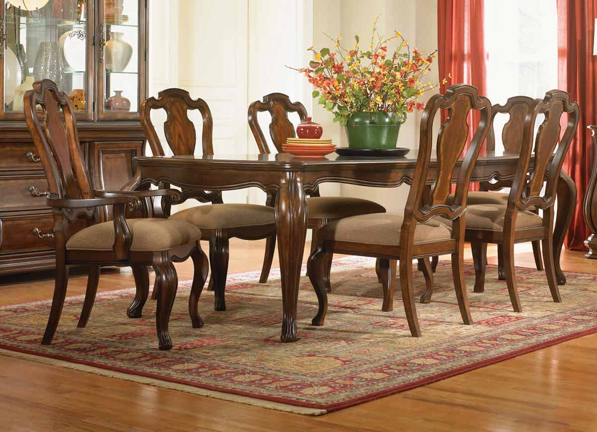 Legacy Classic Rochelle Rectangular Leg Dining Collection with Side and Arm Chair