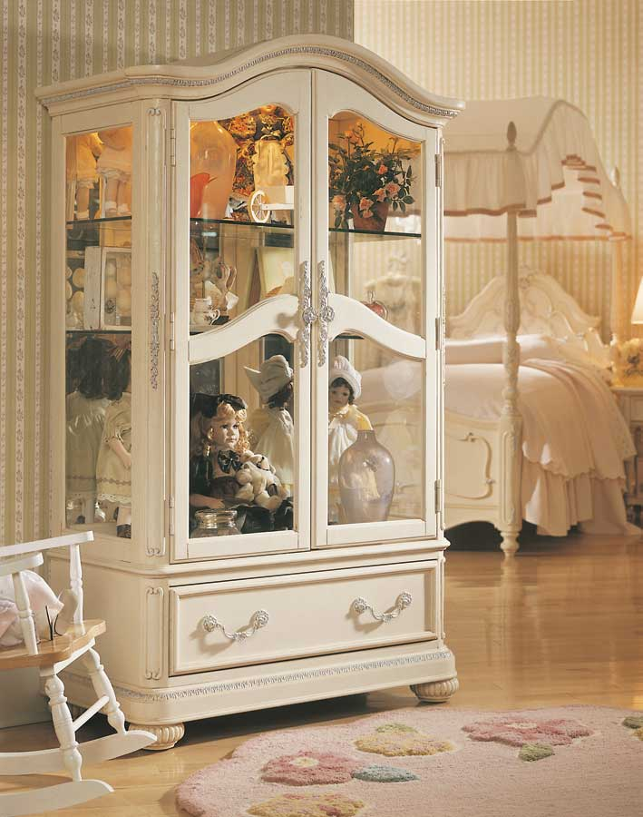 lea romance curio cabinet furniture jessica mcclintock outlet collection vintage