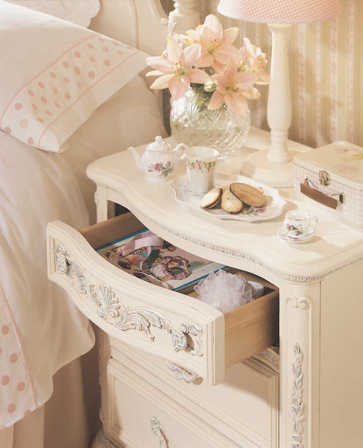 Lea Jessica McClintock Romance 3 Drawer Nightstand  Furniture
