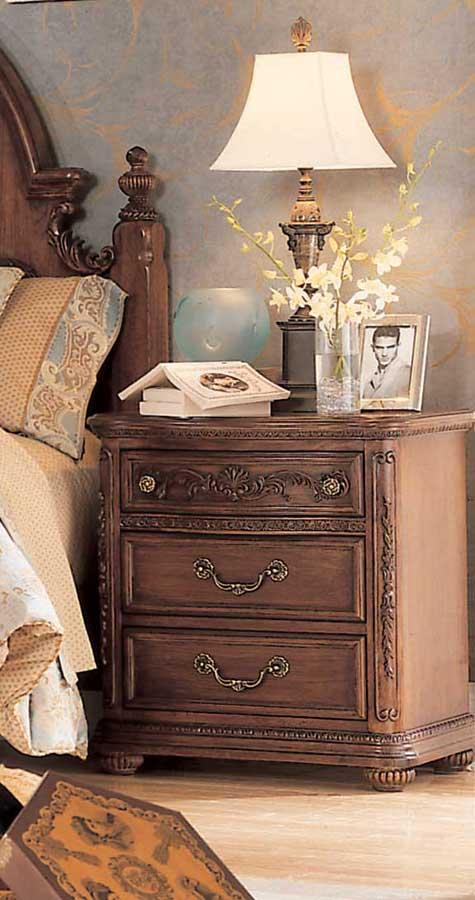 Lea Jessica McClintock Heirloom 3 Drawer Nightstand  Furniture