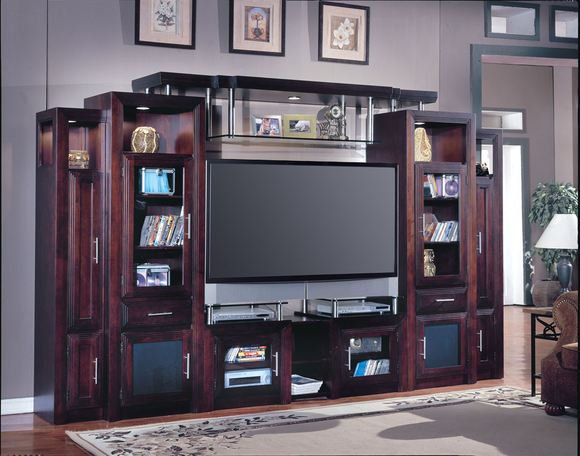 Cheap Parker House Milano 6 pc Entertainment Center