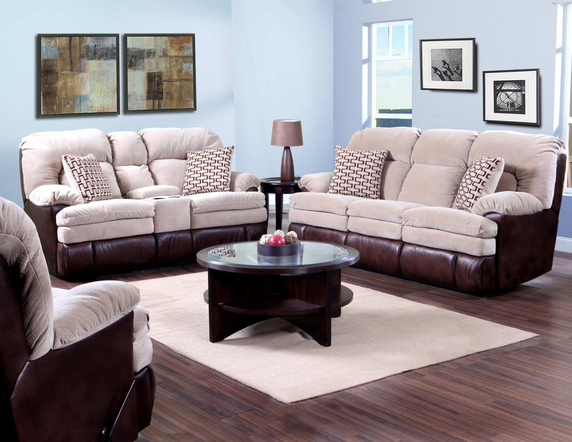 Mississippi in motion 103 series mocha living room set 103 30 16 set at for Motion living room furniture