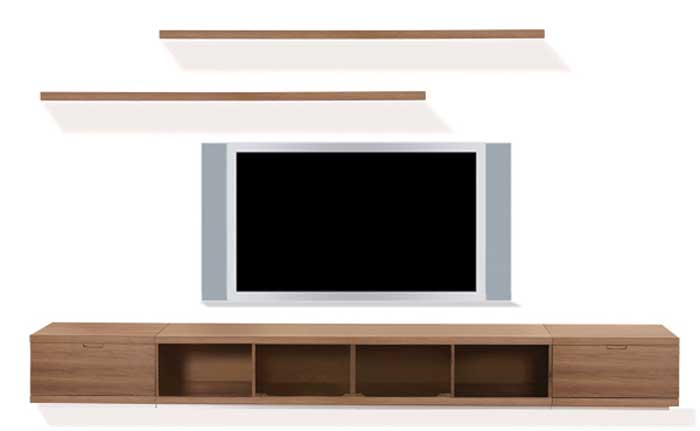 Cheap modloft Ann Wall Unit – Walnut
