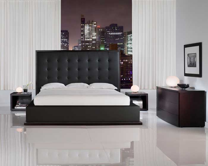 modloft Ludlow Bed - Black - Modloft
