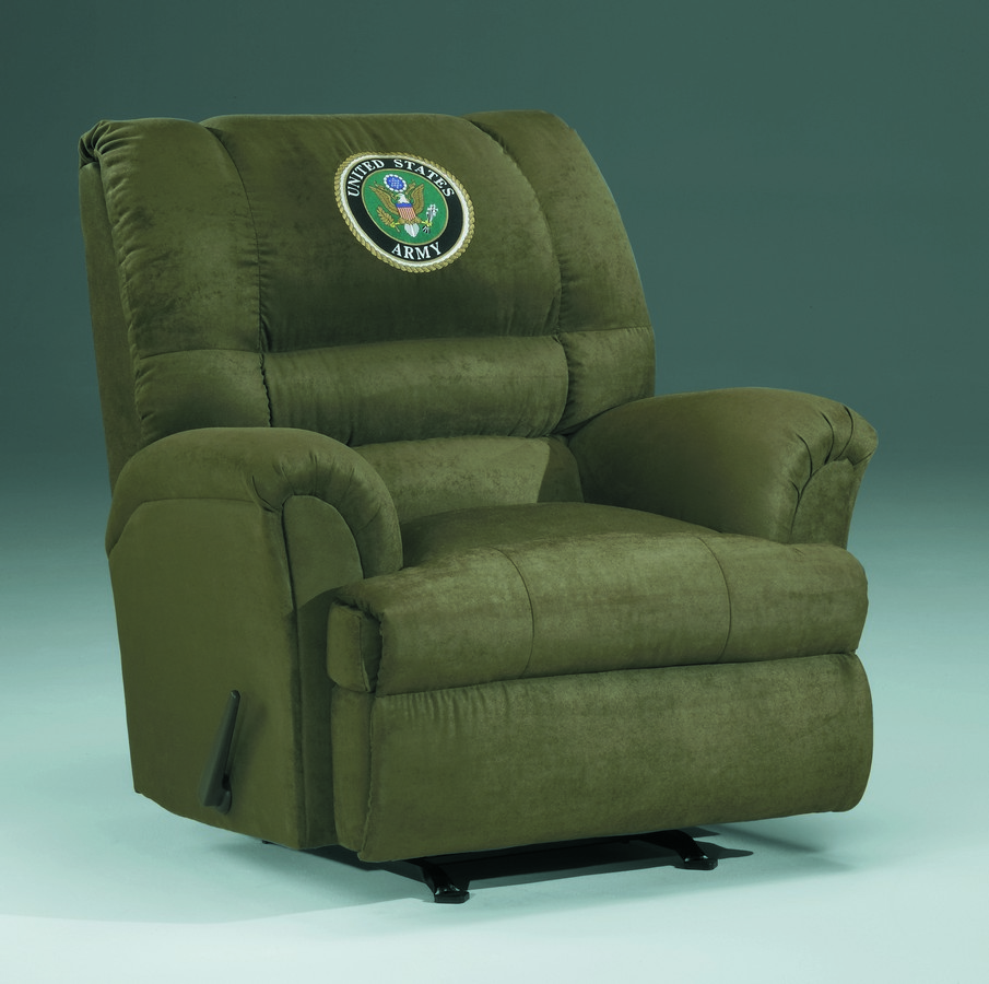 Military recliners us army chaise rocker recliner mr 0014 for Chaise x rocker