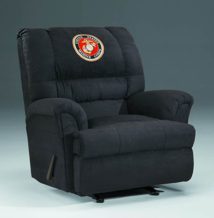 Military recliners us marines chaise swivel rocker for Chaise x rocker