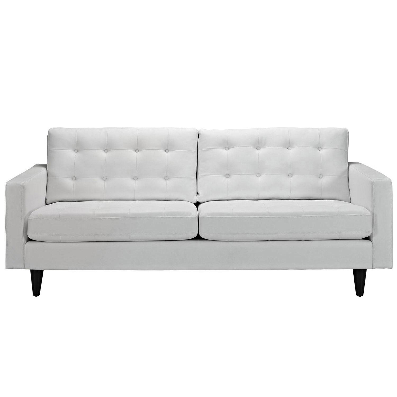 Modway Empress Leather Sofa - White