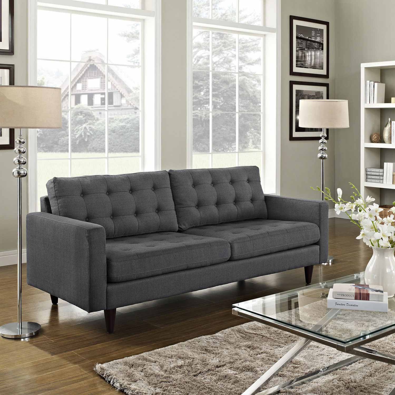 Modway Empress Upholstered Sofa - Gray