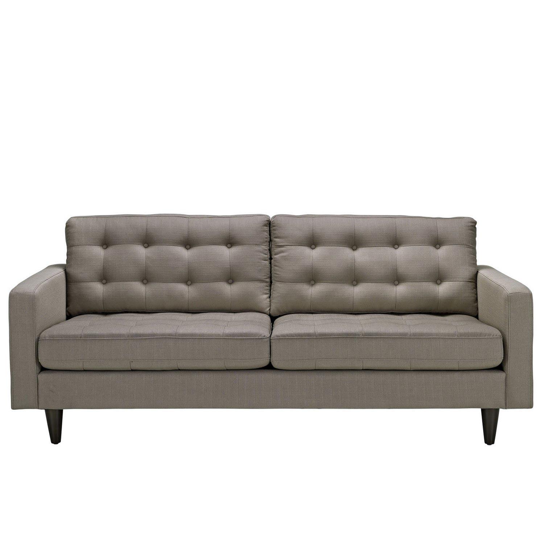 Modway Empress Upholstered Sofa - Granite