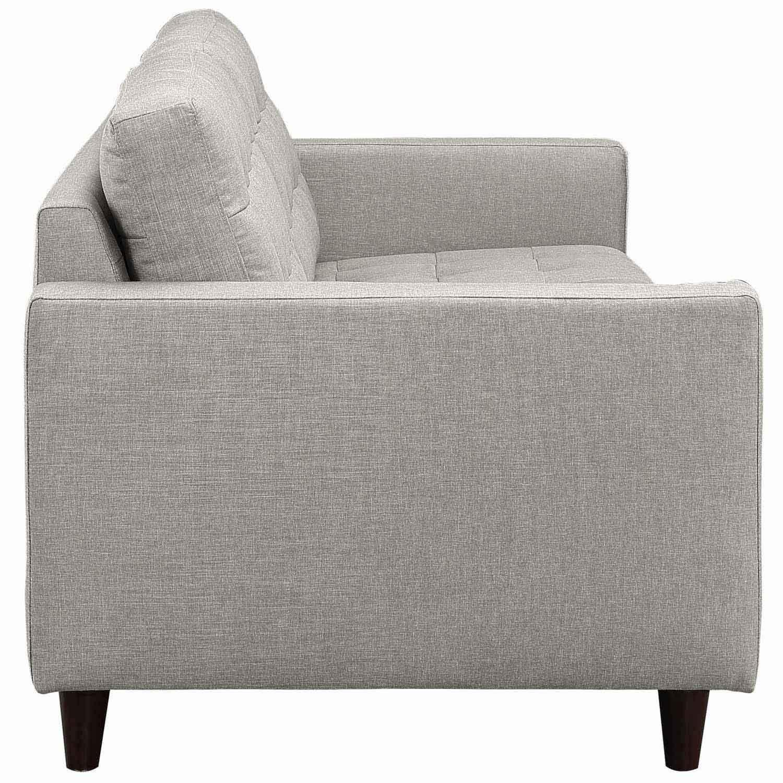 Modway Empress Upholstered Sofa - Light Gray