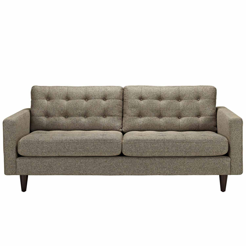 Modway Empress Upholstered Sofa - Oatmeal