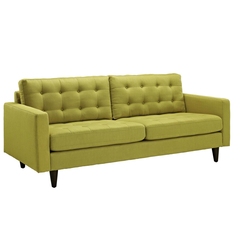 Modway Empress Upholstered Sofa - Wheatgrass