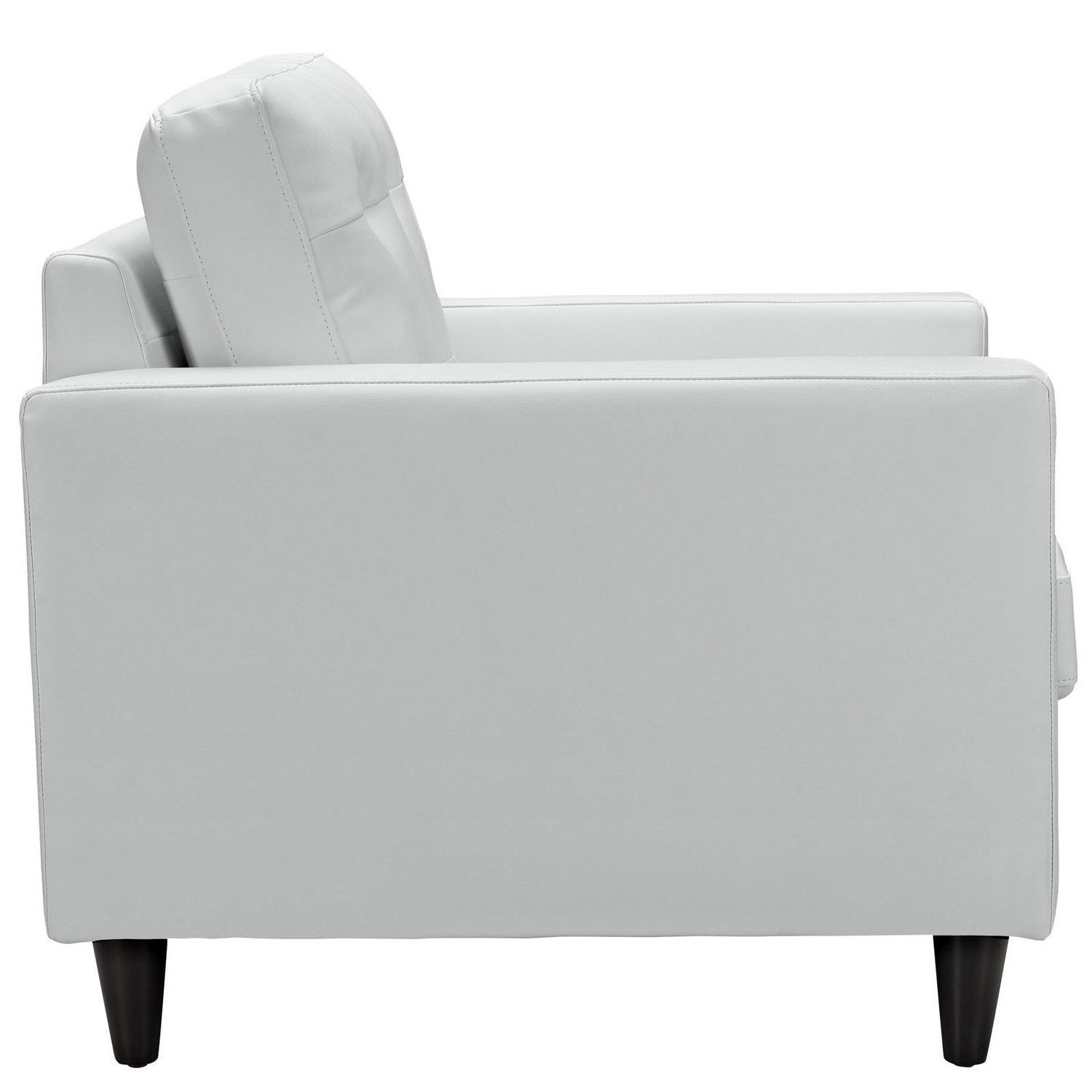 Modway Empress Leather Armchair - White