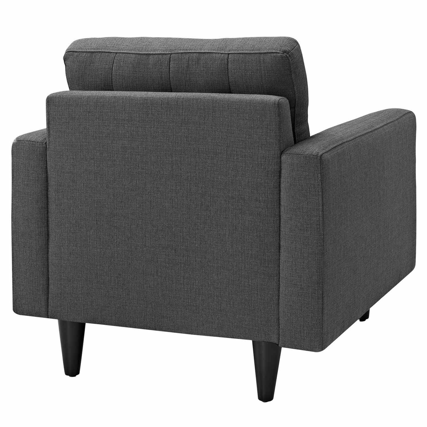 Modway Empress Upholstered Armchair - Gray