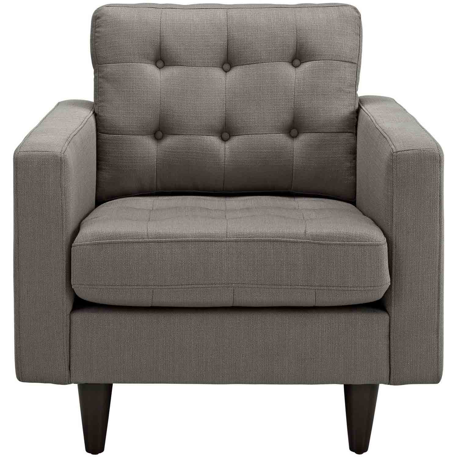 Modway Empress Upholstered Armchair - Granite