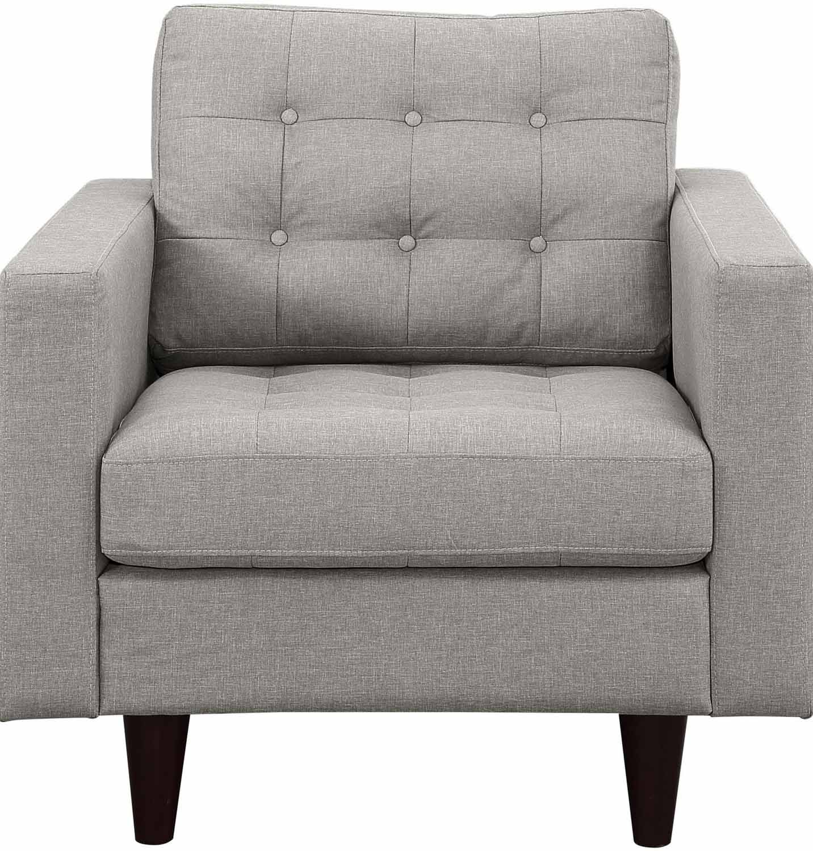 Modway Empress Upholstered Armchair - Light Gray