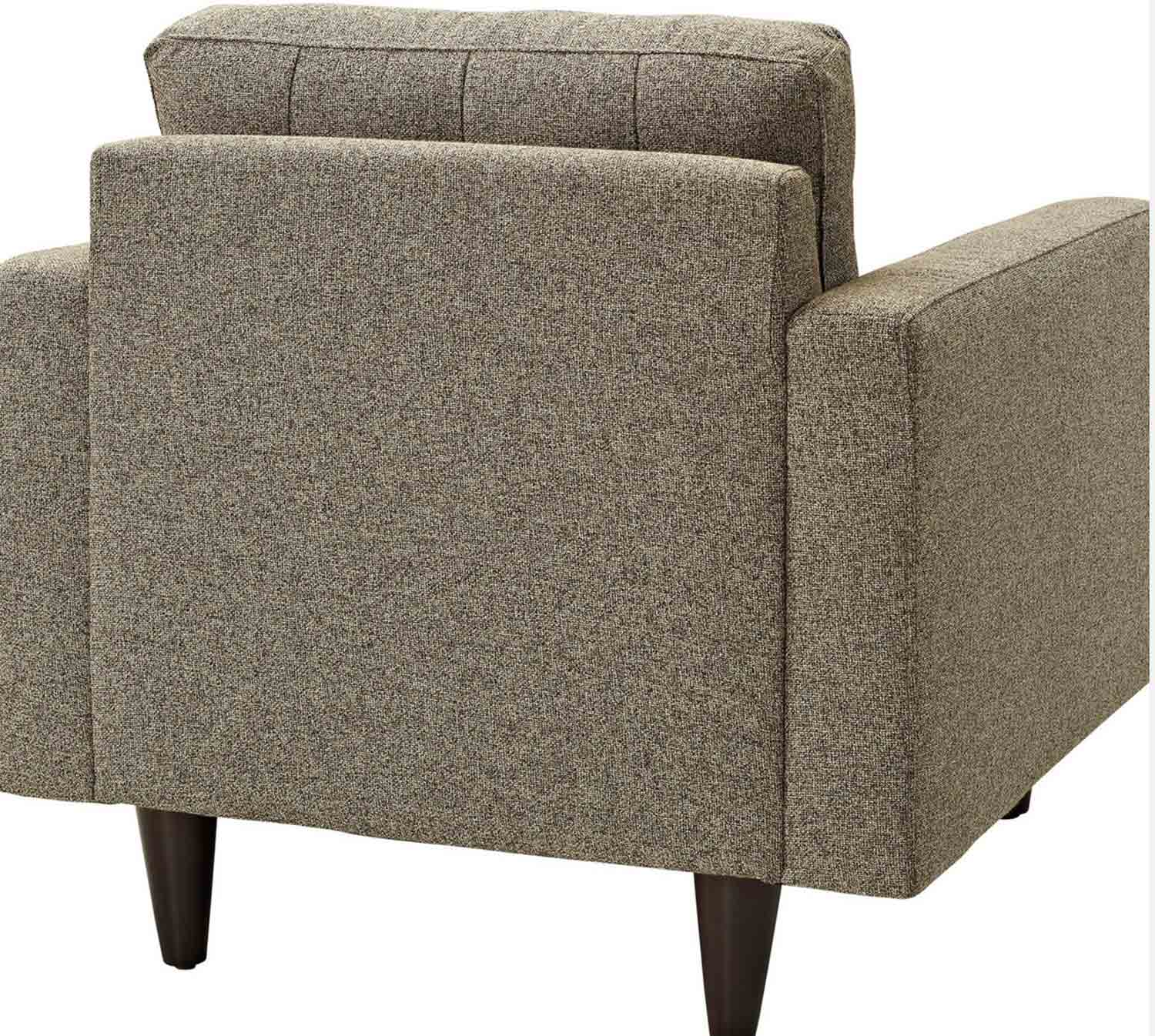 Modway Empress Upholstered Armchair - Oatmeal