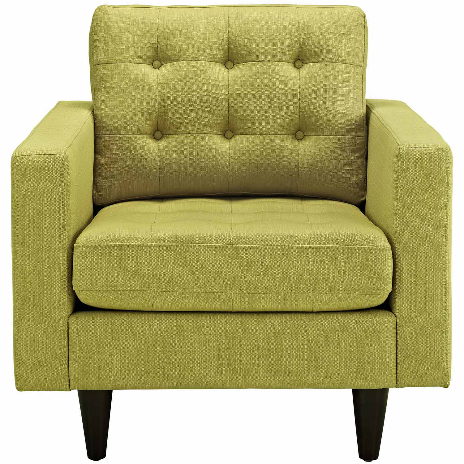 Modway Empress Upholstered Armchair - Wheatgrass