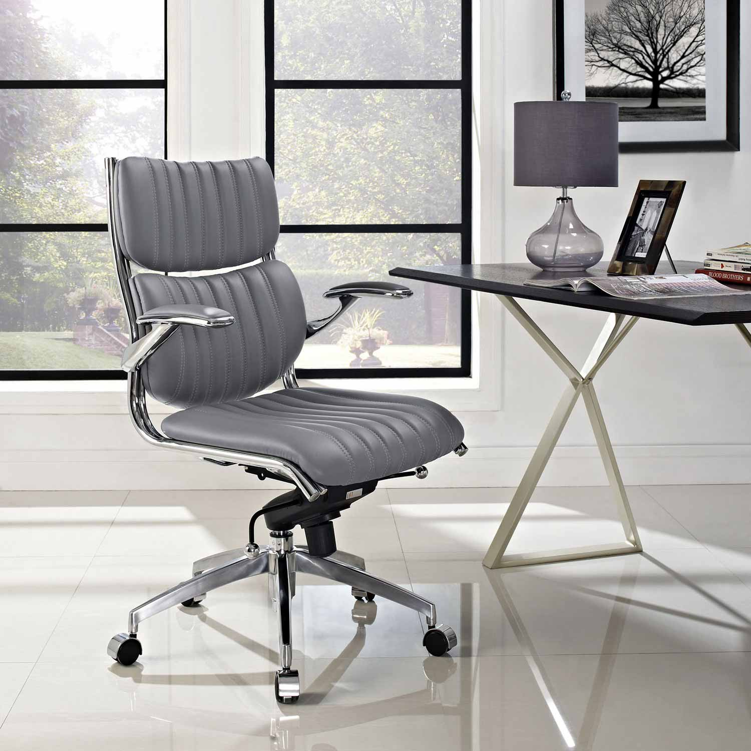 Modway Escape Mid Back fice Chair Gray MW EEI 1028 GRY at