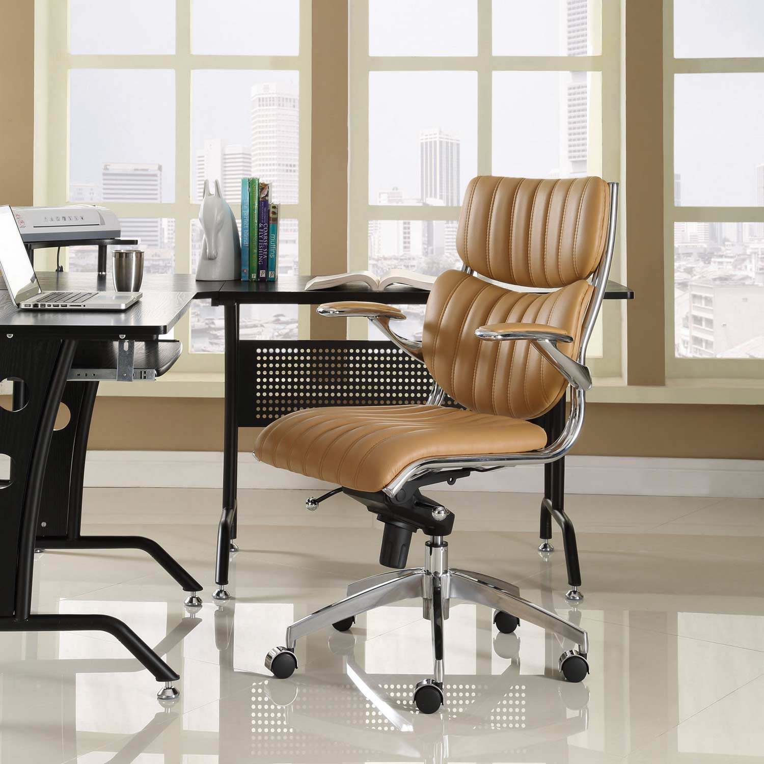 Modway Escape Mid Back Office Chair - Tan