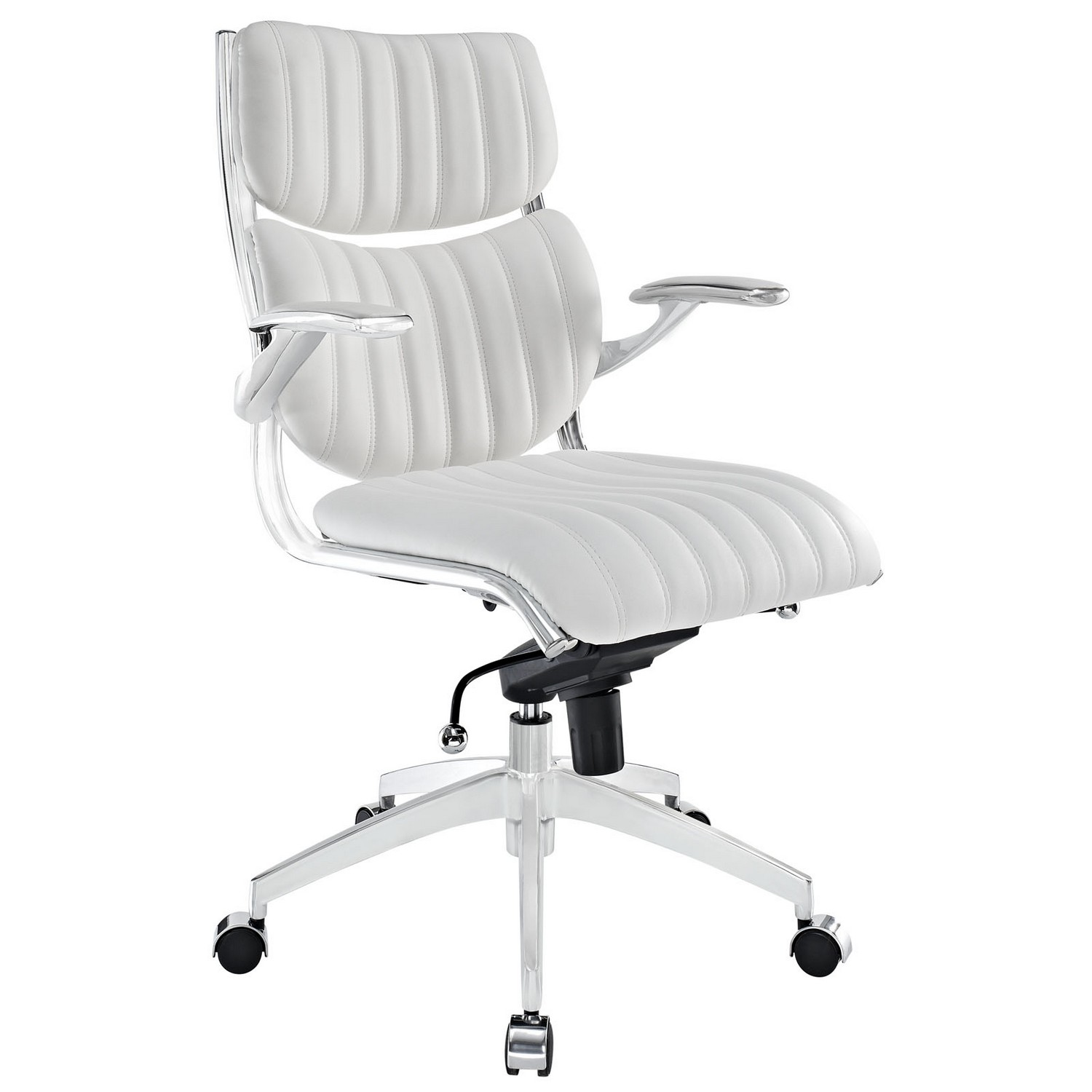 Modway Escape Mid Back Office Chair - White