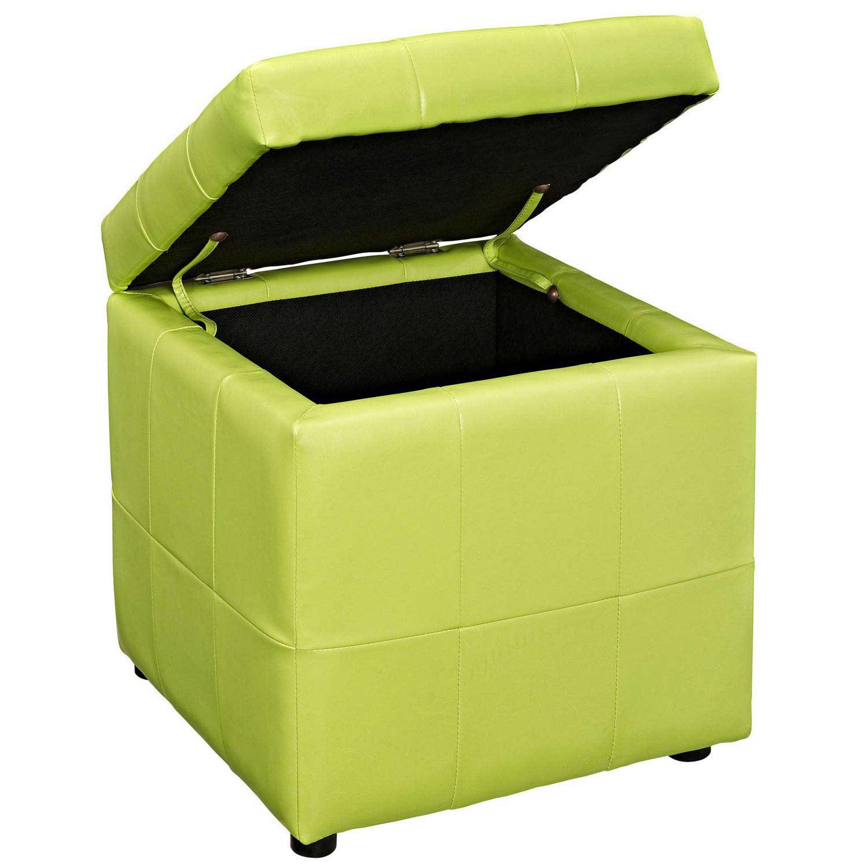 Modway Volt Storage Ottoman - Light Green
