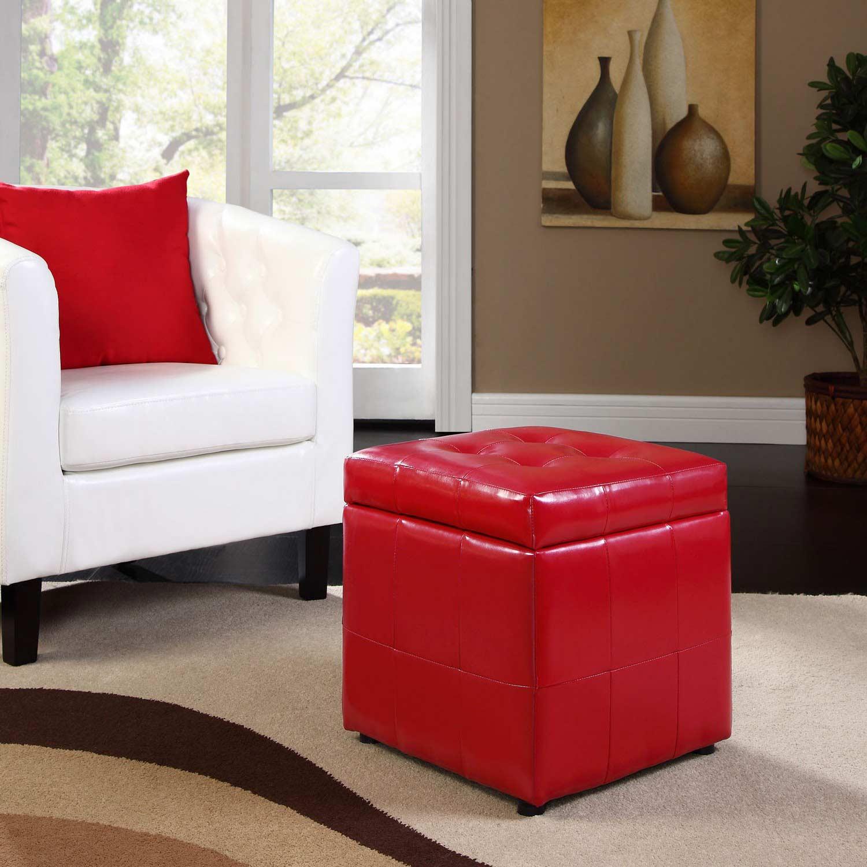 Modway Volt Storage Ottoman - Red