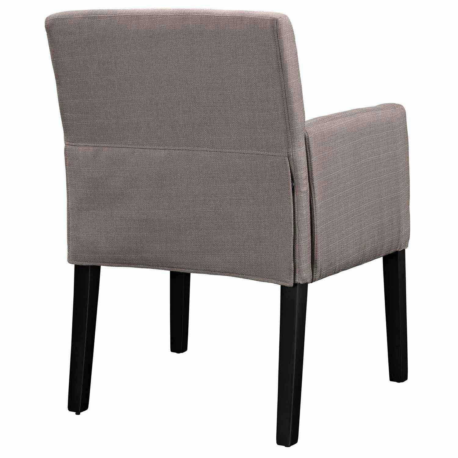 Modway Chloe Wood Armchair - Gray