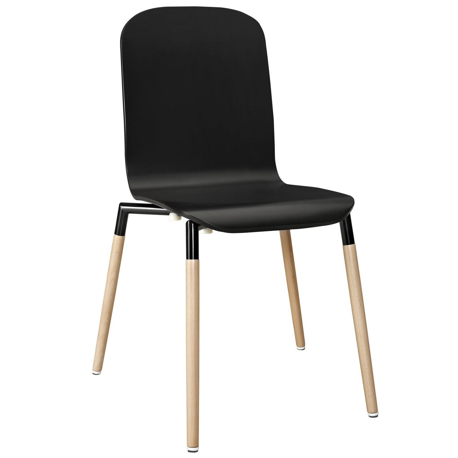 Modway Stack Dining Wood Side Chair - Black