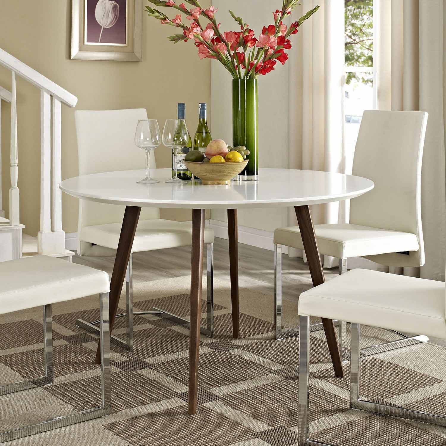 Modway Canvas Dining Table - White