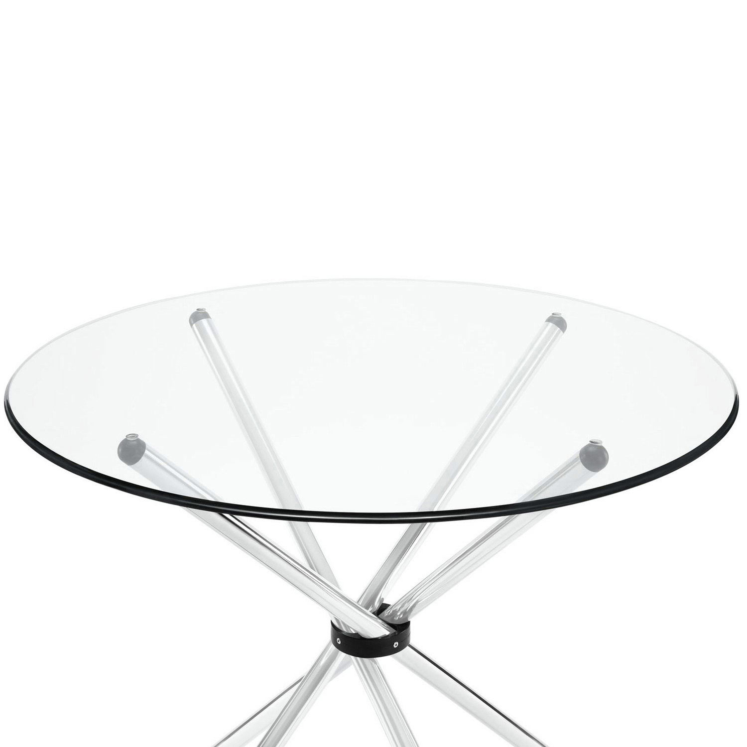 Modway Baton Dining Table - Clear