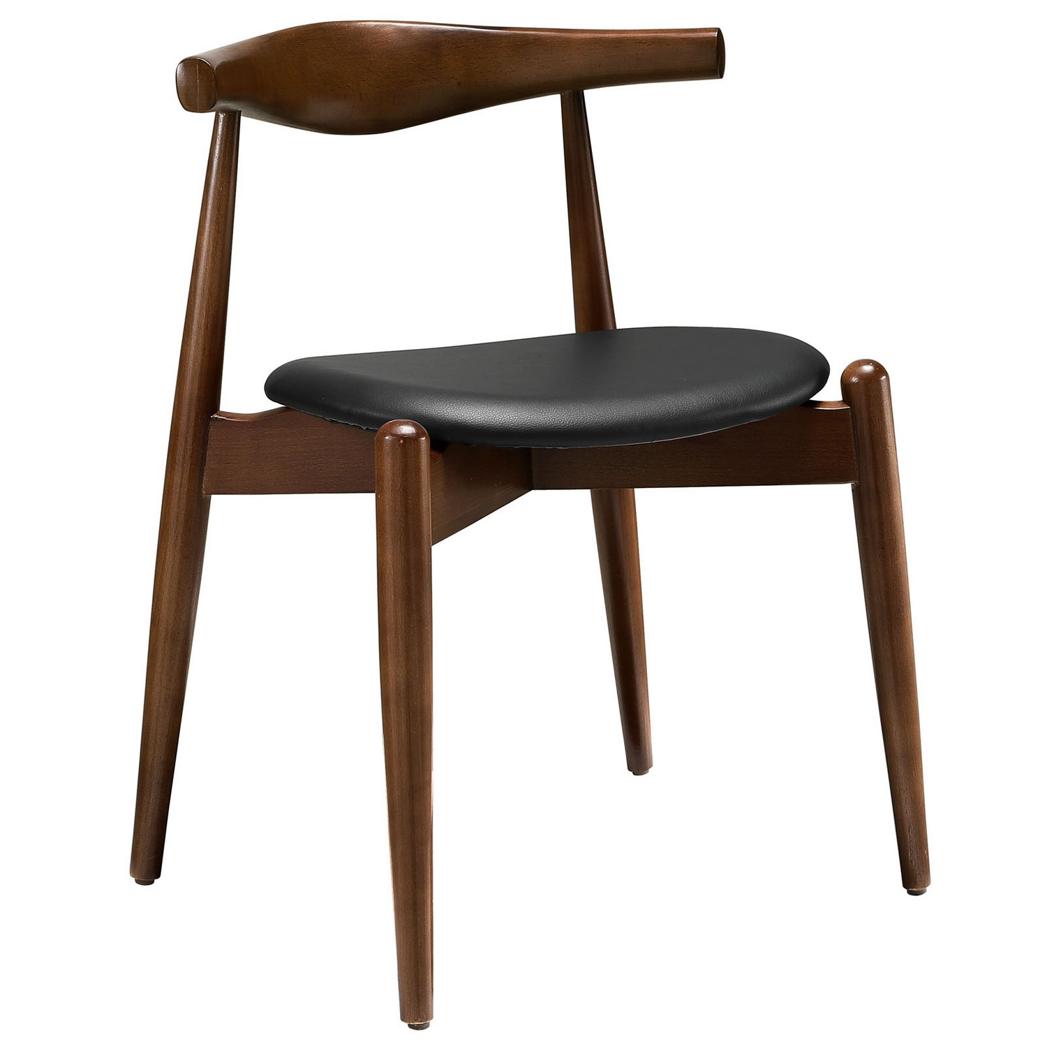 Modway Stalwart Dining Side Chair - Dark Walnut/Black