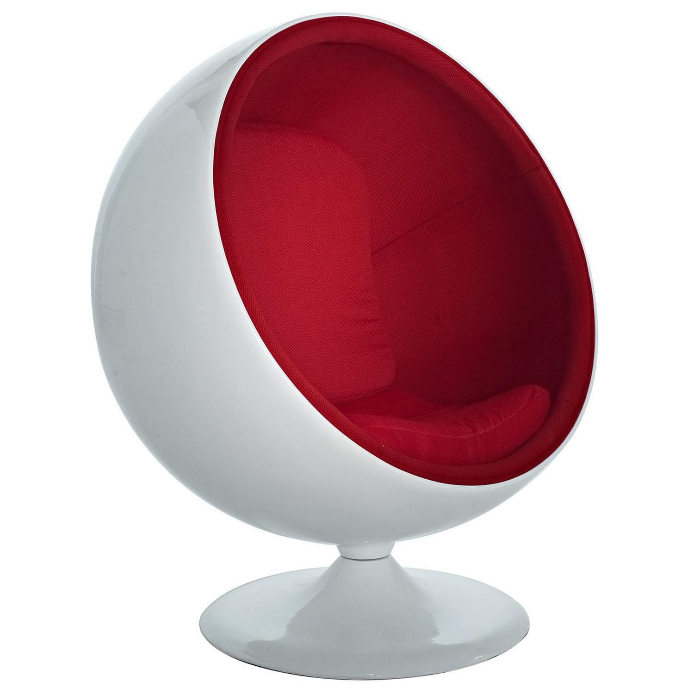 Modway Kaddur Lounge Chair - Red