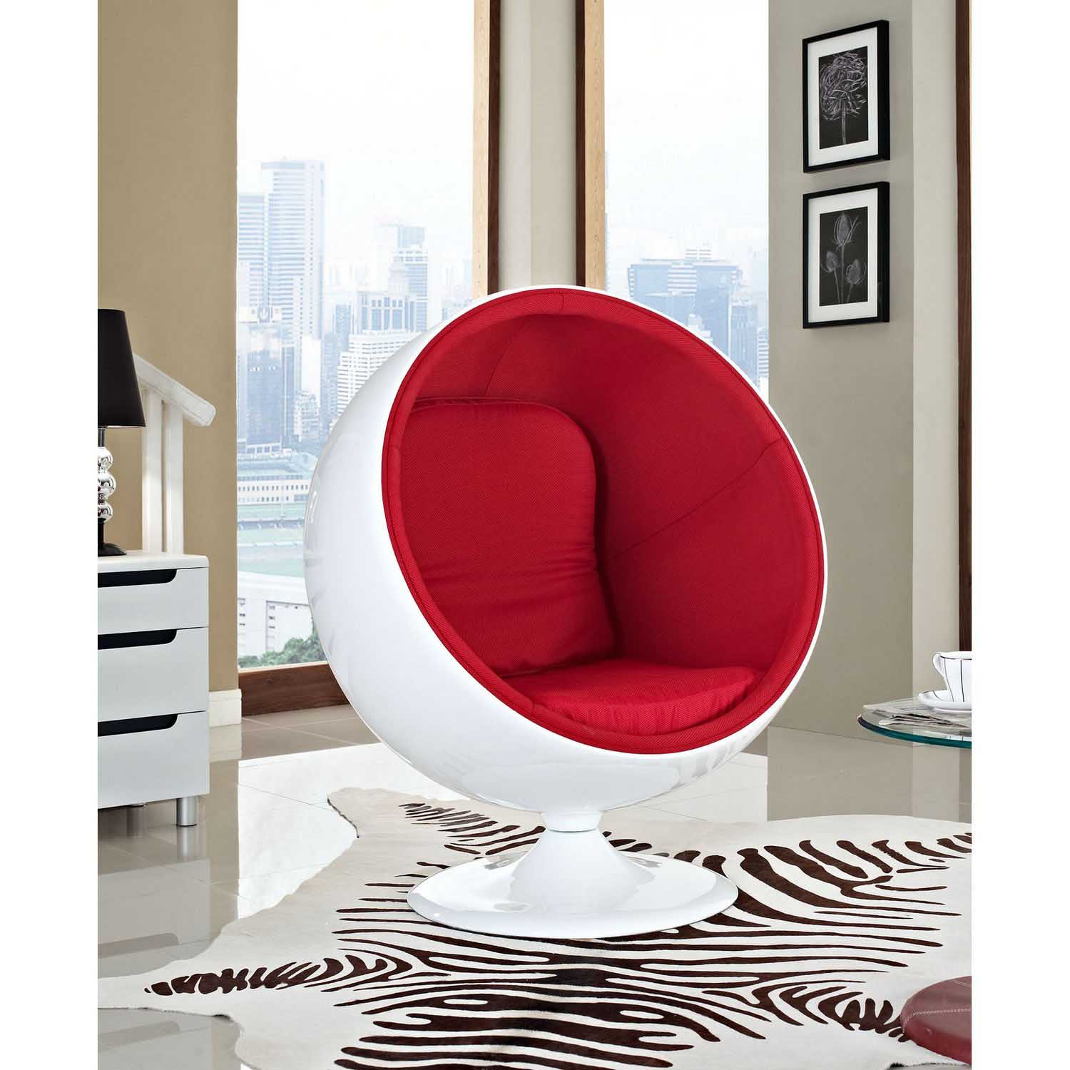 Modway Kaddur Lounge Chair - Red