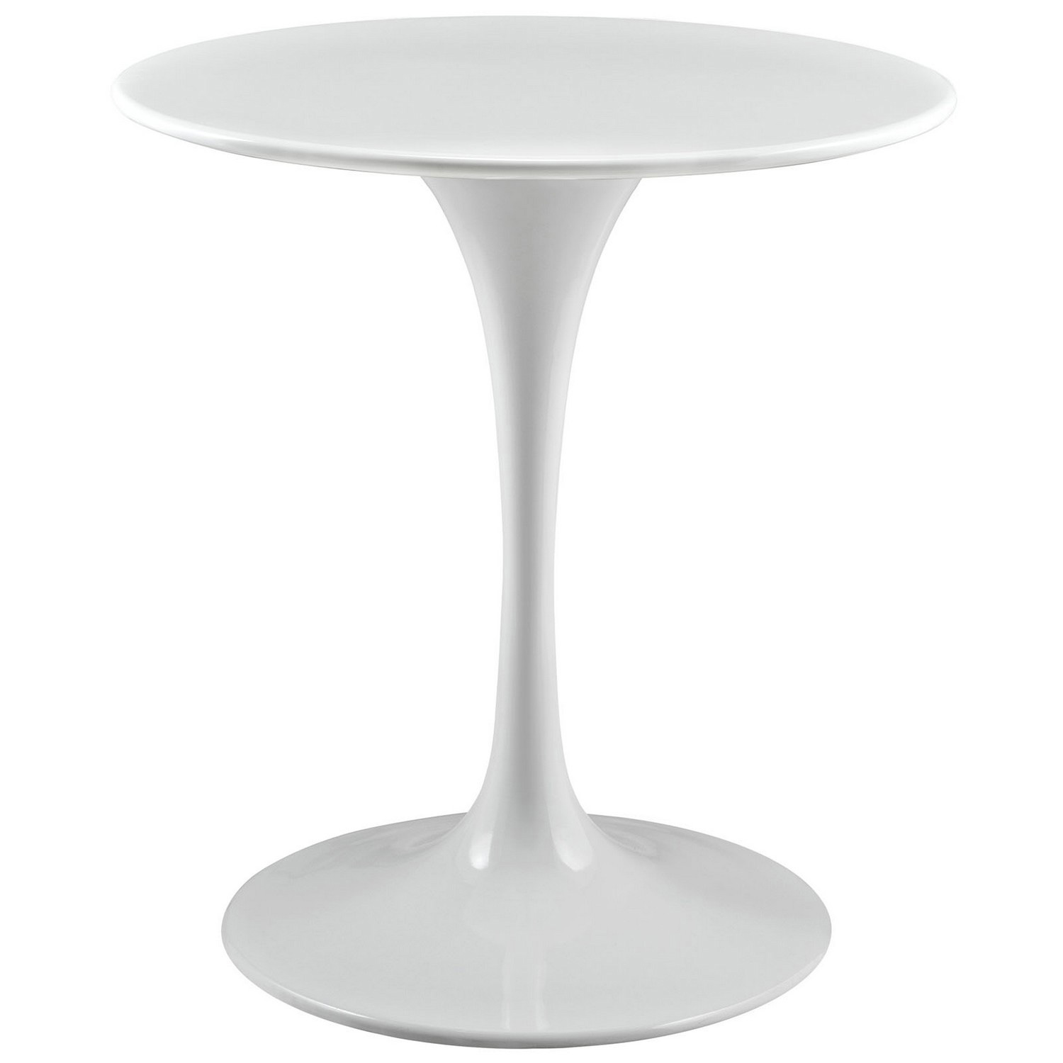 Modway Lippa 28 Wood Top Side Table - White