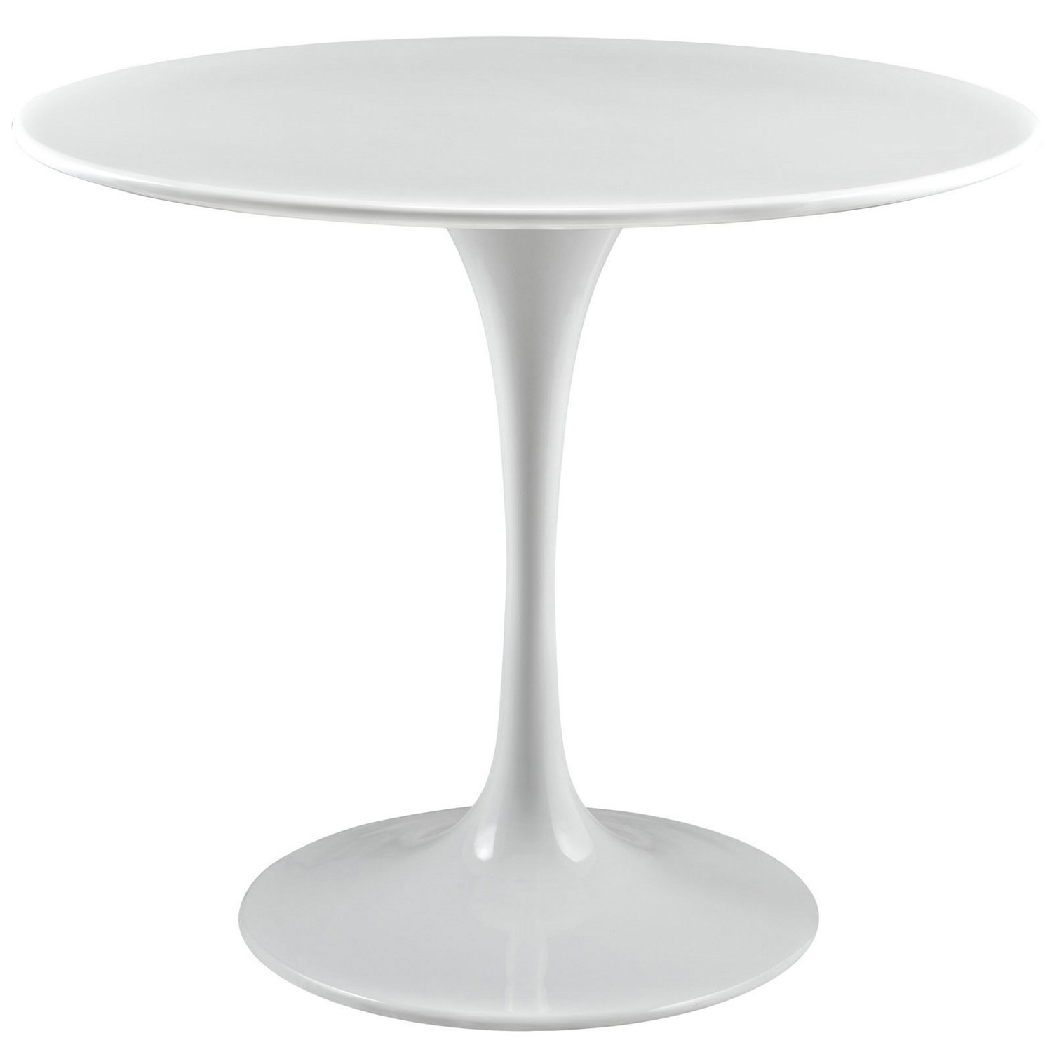 Modway Lippa 36 Wood Top Dining Table - White