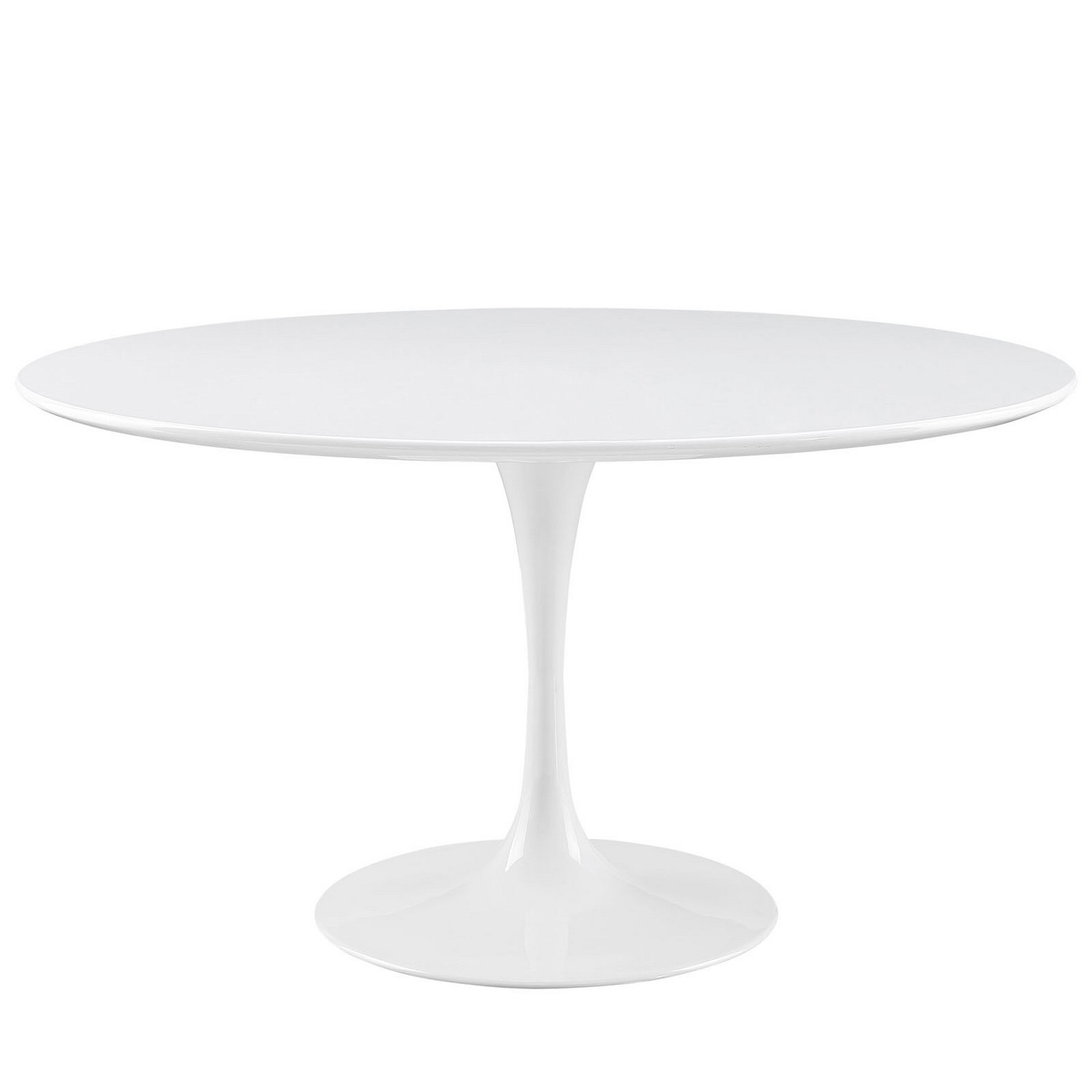 Modway Lippa 54 Wood Top Dining Table - White