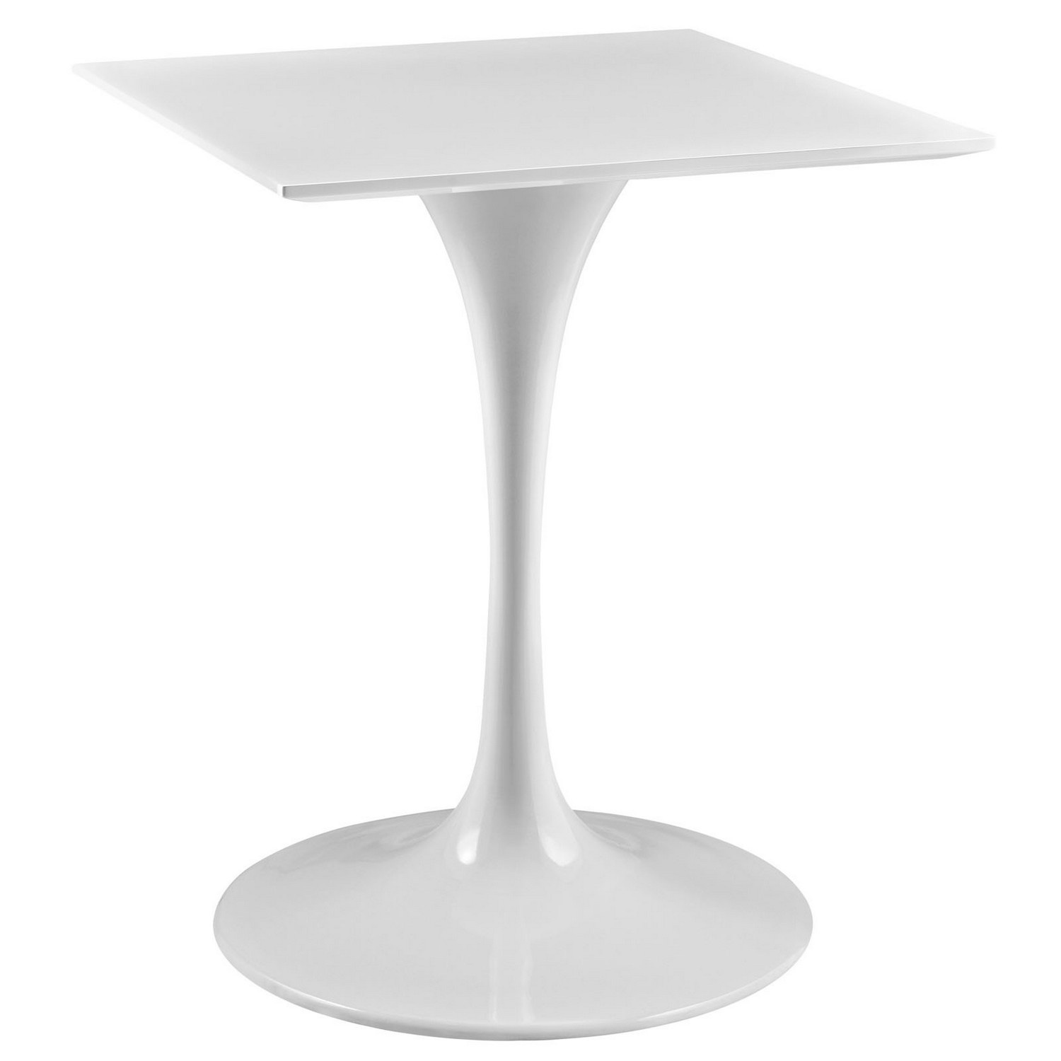 Modway Lippa 24 Wood Top Dining Table - White