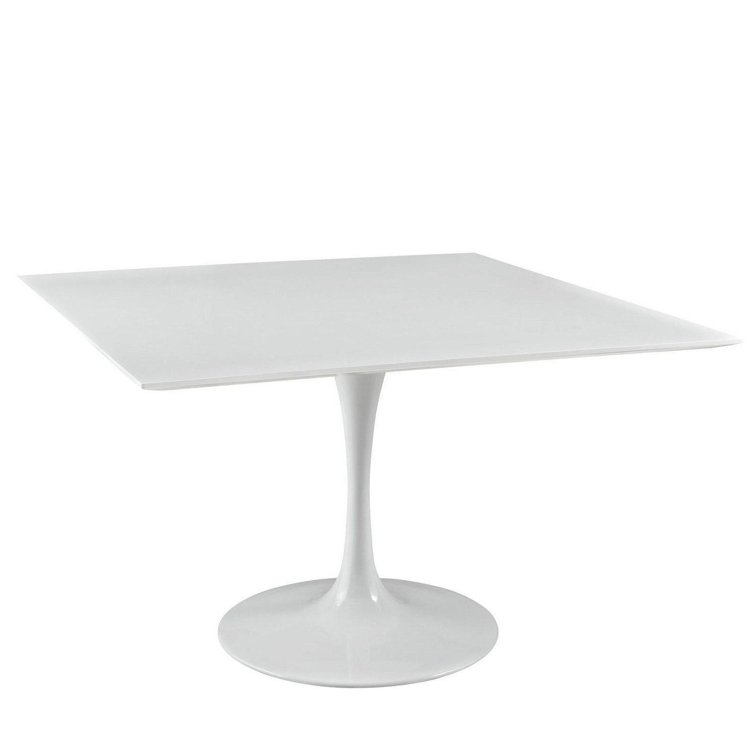 Modway Lippa 47 Square Wood Top Dining Table - White