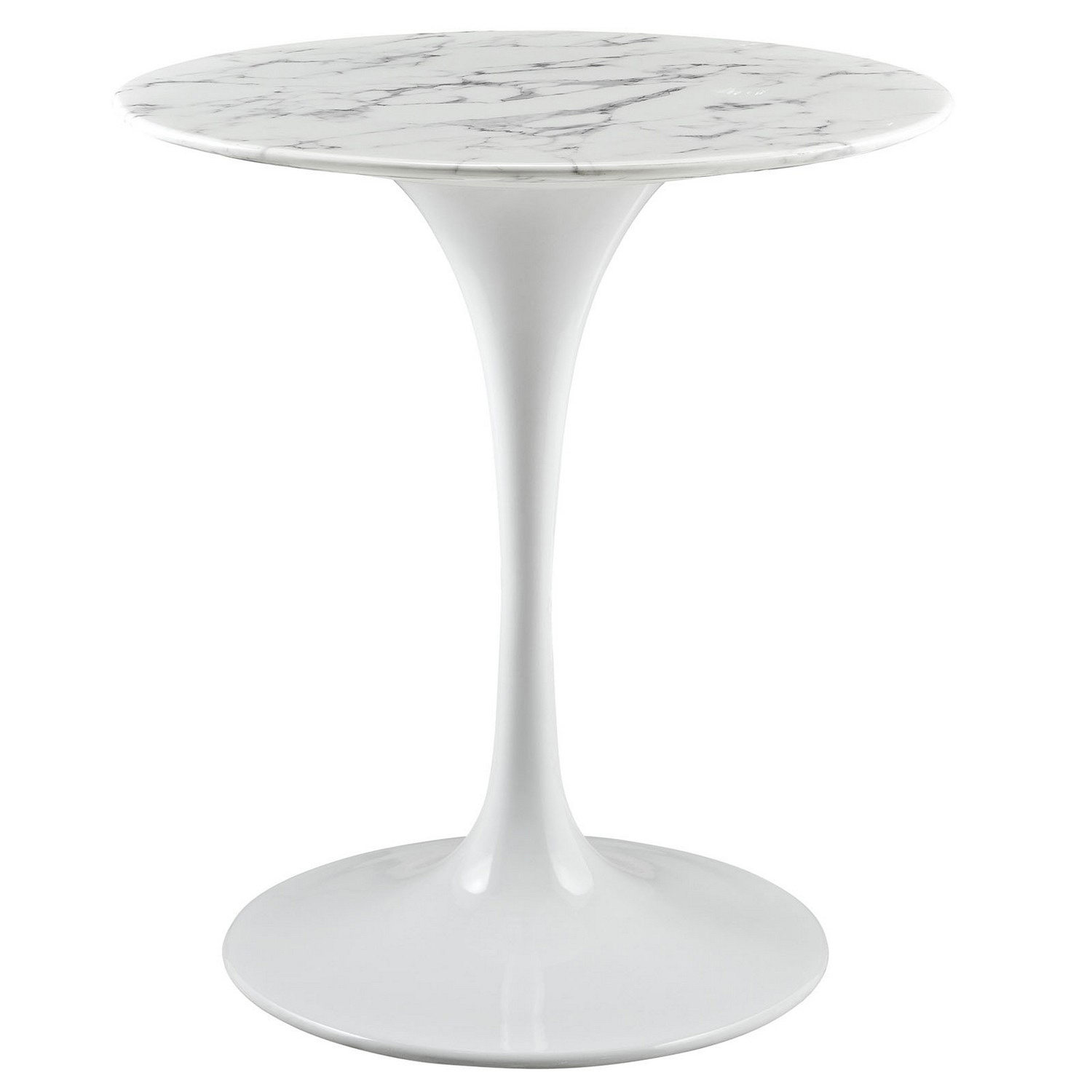 Modway Lippa 28 Artificial Marble Side Table - White