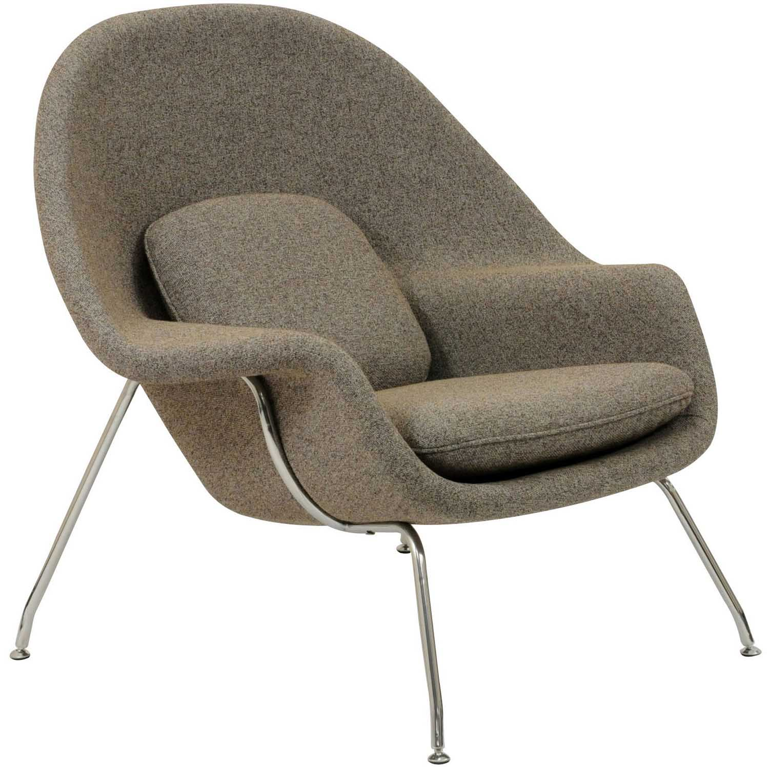 Modway W Fabric Lounge Chair - Oatmeal