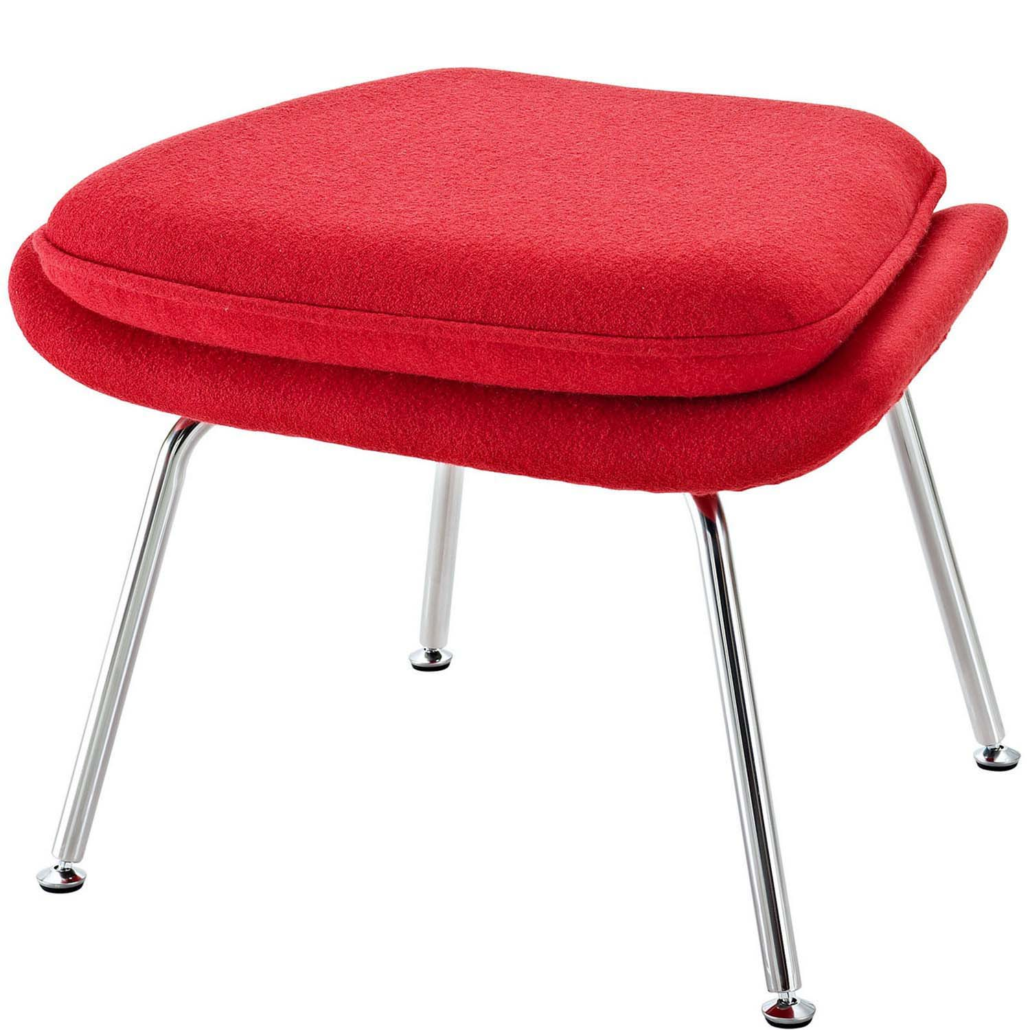 Modway W Fabric Lounge Chair - Red