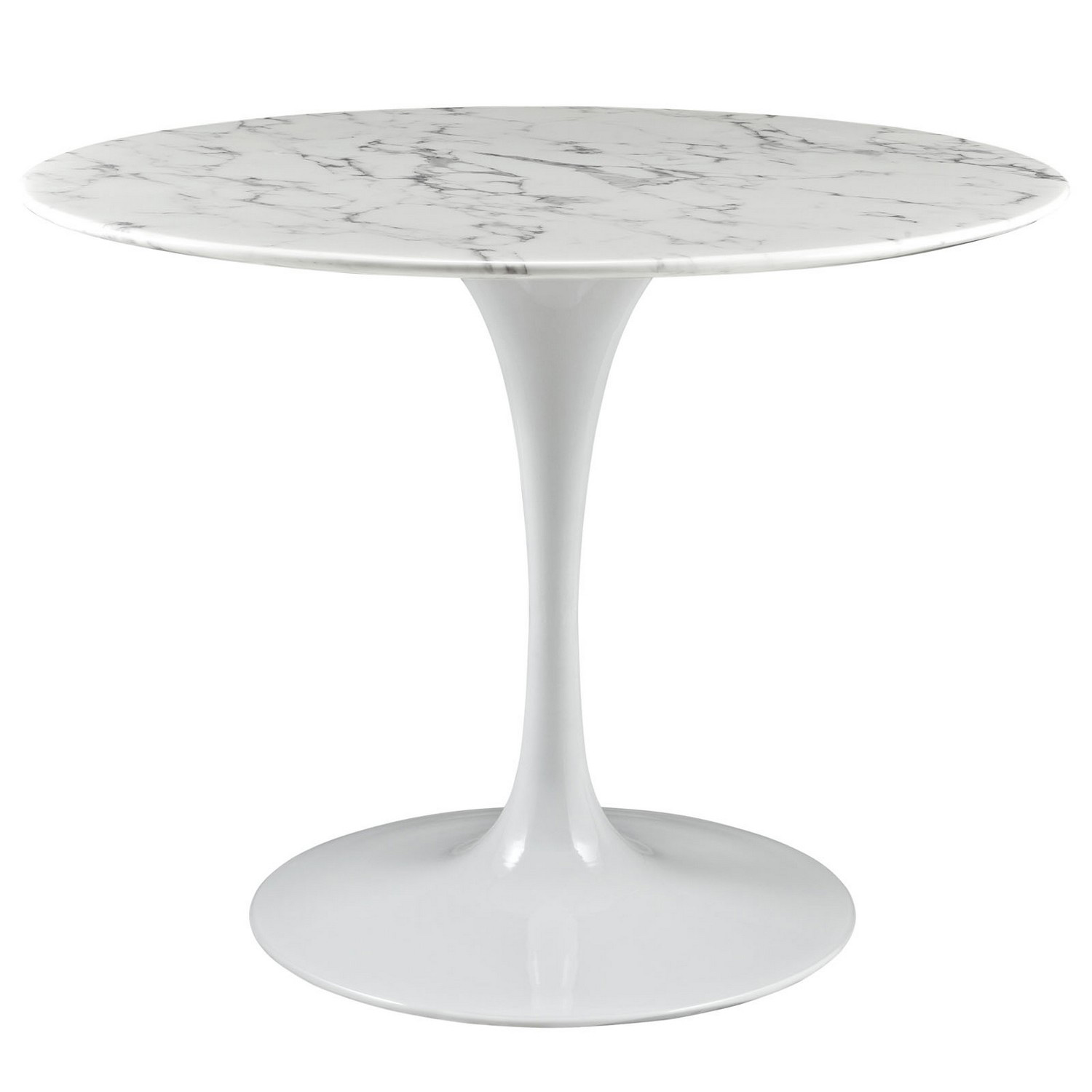 Modway Lippa 40 Artificial Marble Dining Table - White