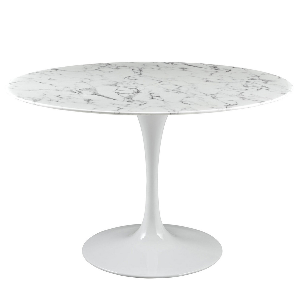 Modway Lippa 47 Artificial Marble Dining Table - White