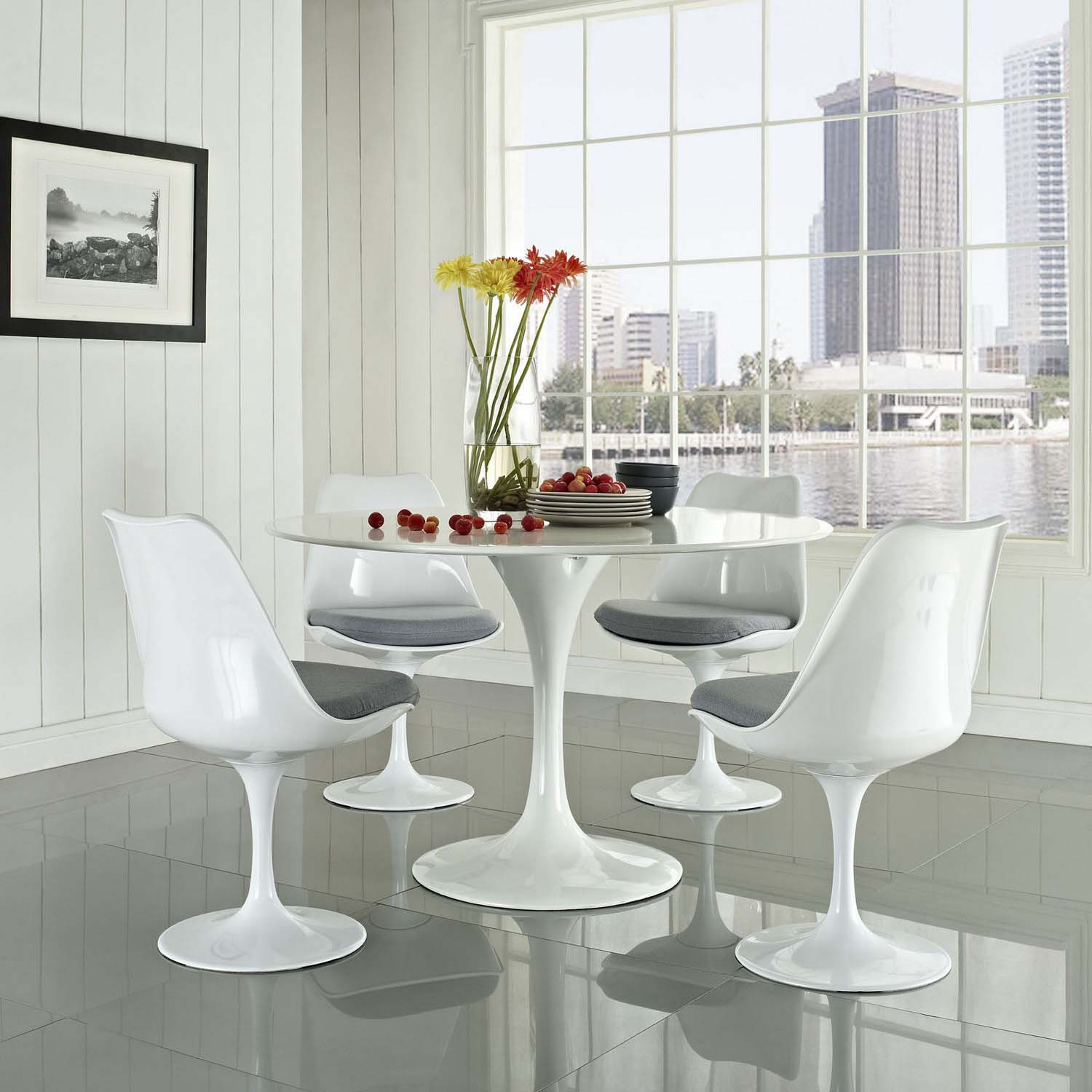 Modway Lippa Dining Fabric Side Chair - Gray